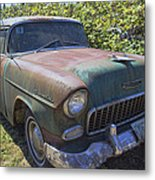 Classic Chevy With Rust Metal Print