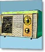 Classic Clock Radio Metal Print