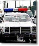 Classic Cop Car Metal Print
