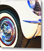 Classic Corvette Palm Springs Metal Print