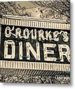 Classic Diner Neon Sign Middletown Connecticut Metal Print