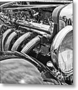 Classic Engine - Classic Cars At The Concours D Elegance. Metal Print