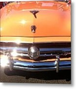 Classic Ford Car Hood Peach Metal Print