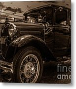 Classic Ford - Sepia Metal Print