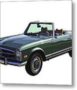 Classic Mercedes Benz 280 Sl Convertible Automobile Metal Print