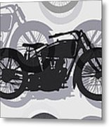 Classic Motorcycle  Metal Print by Daniel Hagerman