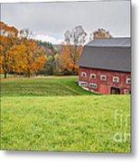 Classic New England Fall Farm Scene Metal Print