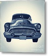 Classic Old Car On Vintage Background Metal Print