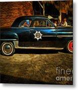 Classic Police Car Metal Print