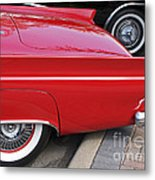 Classic Red And Black Metal Print