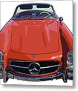 Classic Red Mercedes Benz 300 Sl Convertible Sportscar  Metal Print