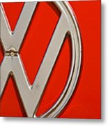 Classic Red Vw Metal Print