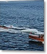 Classic Runabouts At Dusk Metal Print
