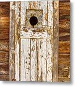 Classic Rustic Rural Worn Old Barn Door Metal Print