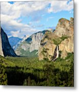 Classic Tunnel-view, Bridalveil Falls Metal Print