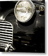 Classic Vintage Car Black And White Metal Print