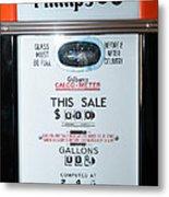 Classic Vintage Gilbarco Phillips 66 Gas Pump Dsc02751 Metal Print