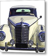 Classic White Mercedes Benz 300  Metal Print