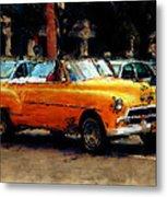 Classic Yellow Havana Metal Print by Fran Hogan