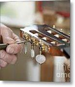 Classical Guitar Maker Metal Print