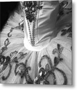 Classically Costumed X Monochrome Metal Print