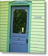Classy Farmhouse Door Metal Print