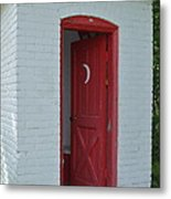 Classy Outhouse Metal Print