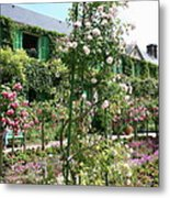 Claude Monets House - Giverney Metal Print