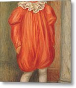 Claude Renoir In A Clown Costume Metal Print