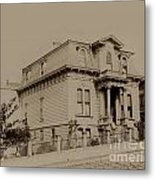 Clay And Hyde Street's San Francisco Built In 1874 Burned In The 1906 Fire Metal Print