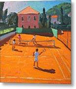 Clay Court Tennis Metal Print