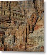 Clay Mountain Formations In Front Metal Print