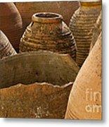 Clay Pots   #7811 Metal Print