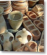 Clay Pots And Other Containers Metal Print