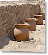 Clay Pots At Huaca Pucllana In Lima Peru Metal Print