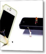Cleaning The Iphones Little People Big Worlds Metal Print