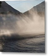 Cleaning The Street Metal Print