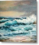 Clear Aqua Waters Metal Print