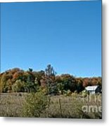 Clear Autumn Country Sky Metal Print