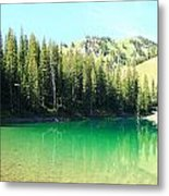 Clear Green Water Metal Print