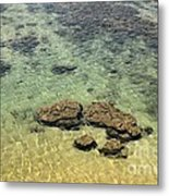 Clear Indian Ocean Water With Rocks At Galle Sri Lanka Metal Print