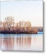 Clear Morning On The River Metal Print