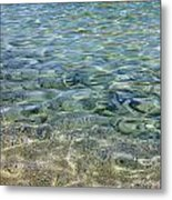 Clear Water And Pebbles Metal Print