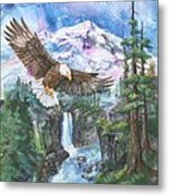 Cleared For Landing Mount Baker Metal Print