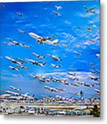 Cleared For Takeoff Metal Print