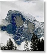 Clearing Storm Around Half Dome Metal Print by Bill Gallagher