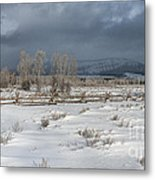 Clearing Storm In The Tetons Metal Print