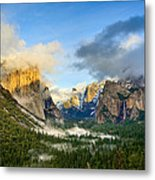 Clearing Storm - Yosemite National Park From Tunnel View. Metal Print