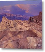 Clearing Sunrise Storm Zabriske Point Death Valley National Park California Metal Print