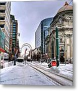 Clearing The Way...downtown Buffalo Ny 2014 Metal Print